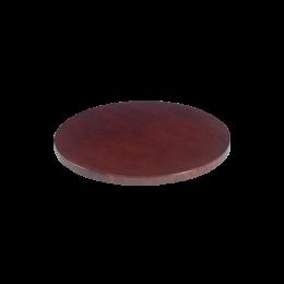 30 Round Veneer Table Top Dark Mahogany Veneer Table