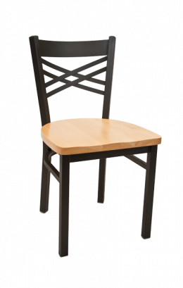 x back metal chair w wood seat metal restaurant chairs