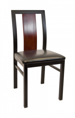 Center Slat Metal Chair W Vinyl Seat Metal Restaurant Chairs Restaurant Furniture A1