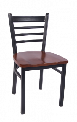 Smooth Paint Ladder Back Metal Chair W Wood Seat Metal Restaurant